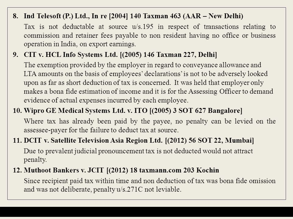 8. Ind Telesoft (P.) Ltd., In re [2004] 140 Taxman 463 (AAR – New Delhi)